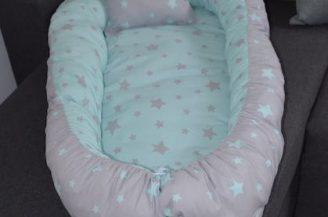 Protectie somn - Babynest, Babymat Handmade, model 75 cm x 40 cm, culoare turquoise