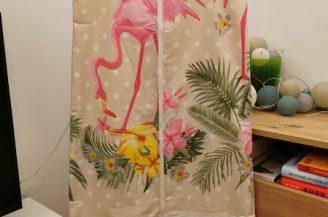 Saculet de dormit clasic (1 tog) pentru bebelusi, 18-36 luni, Babymat Handmade, model pasari flamingo mari