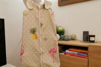 Saculet de dormit clasic (1 tog) pentru bebelusi, 6-18 luni, Babymat Handmade, model exotic